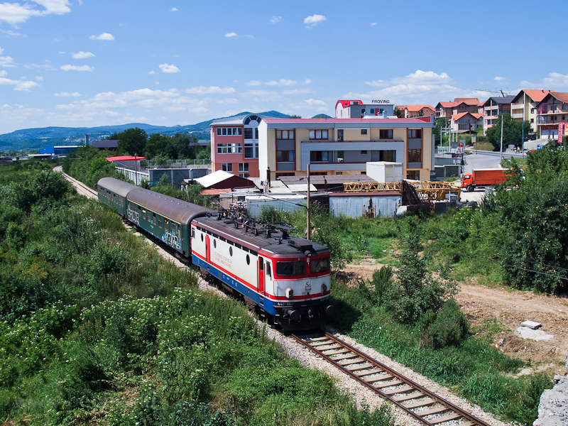 The ŽFBH 441-903 seen hauling a slow train from Maglaj between Rajlovac and Alipasin Most on the short line to the Sarajevo main station photo