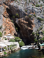 Blagaj, spring of the river Buna
