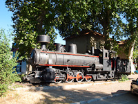 The JŽ 83.056 76 cm narrow-gauge steam locomotive exhibited at Trebinje station