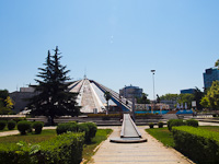 Tirana, the Pyramid of Enver Hoxha