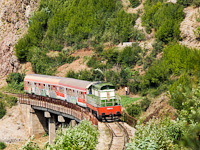 The HSH - Albanian Railways T669-1059 seen between Elbasan and Mirake