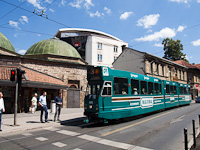 Sarajevo - tram donated by Amsterdam by a Turkish bath