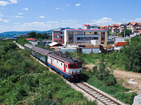 The ŽFBH 441-903 seen hauling a slow train from Maglaj between Rajlovac and Alipasin Most on the short line to the Sarajevo main station