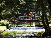 The springs of the river Bosna (Vrelo Bosne Park) nexto to Sarajevo