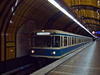 The MVG U-Bahn Baureihe A 7169 seen at Theresienwiese