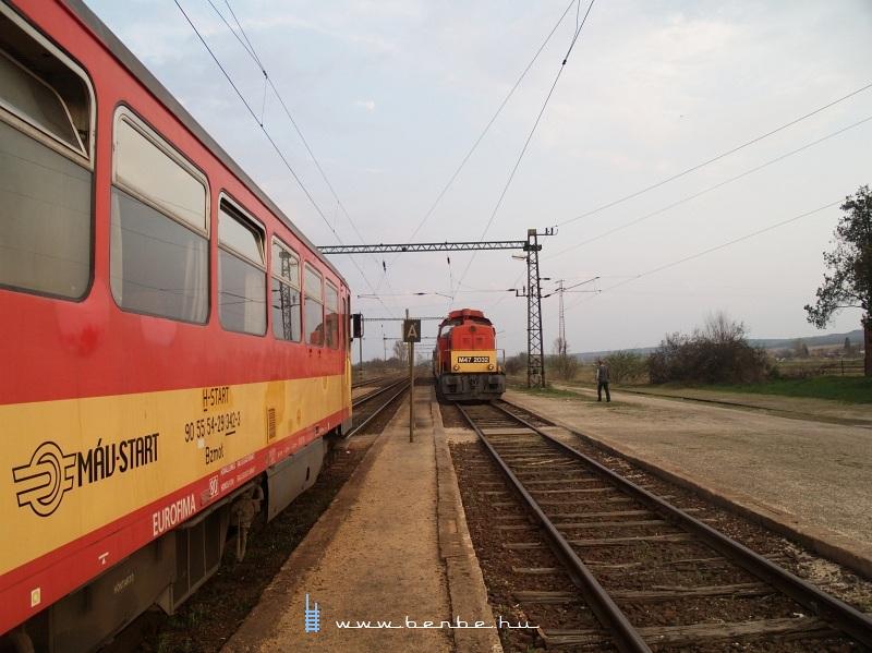 Vonatkereszt Galgamácsán fotó