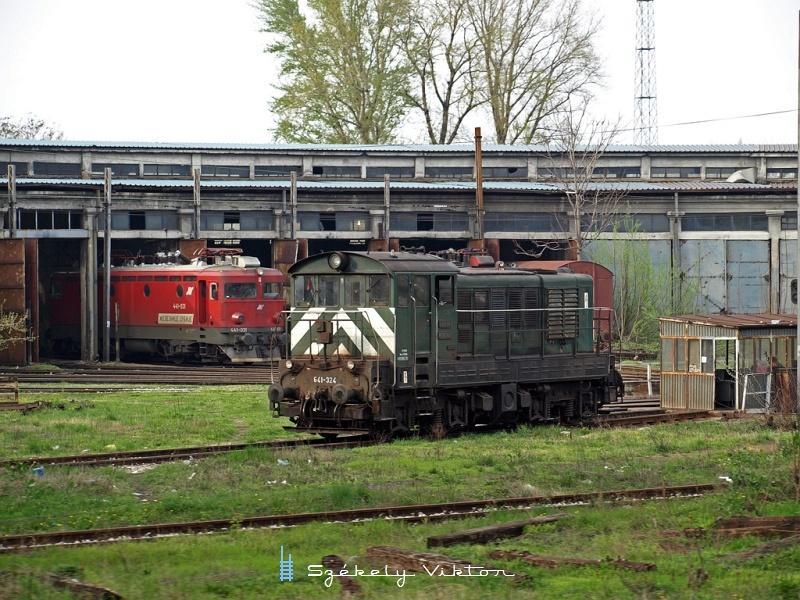 641-324 és 441-031 Belgrádban fotó