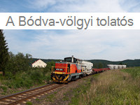 The local freight in the Bódva-valley