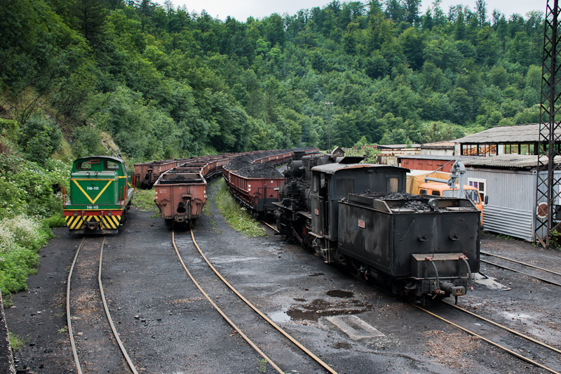 The Banovići Coal Mines in Bosnia-Herzegovina 83-158 and 740-113 seen at Oskova photo