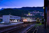 A ŽFBH 441 908 Konjic állomáson Talgo-szerelvénnyel