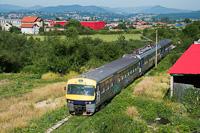 Egy ismeretlen pályaszámú ŽFBH 411 sorozatú, Ganz-MÁVAG gyártmányú  Olimpik Express  villamos motorvonat Rajlovac és Alipasin Most között