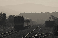 The ŽRS 813 043 seen at Suho Polje