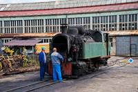 The Banovići Coal Mines of Bosnia-Herzegovina 25-30 seen at Banovici depot where they were cleaning the smokebox and the tubes