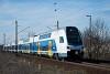 A MÁV-START 815 007 pályaszámú Stadler KISS emeletes motorvonat Szemeretelep megállóhelyen