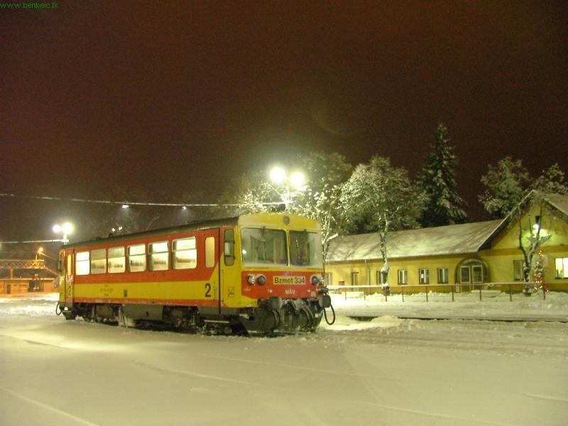 The Bzmot 334 at Balassagyarmat station photo