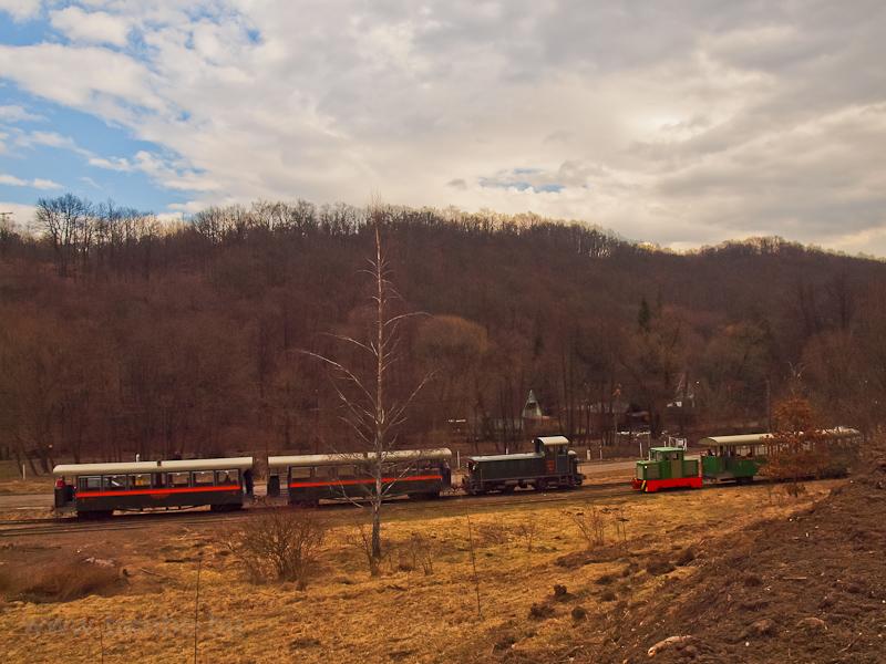 A Királyréti Erdei Vasút Mk48 2014-ese Hártókút állomáson fotó