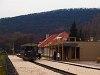 A Királyréti Erdei Vasút  Tóbi  motorkocsija Kismaroson