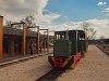 A Nagybörzsönyi Erdei Vasút C50 3756 pályaszámú kismozdonya a Királyréti Erdei Vasúton a paphegyi felújítása alkalmából rendezett fotósvonaton Kismaros állomáson