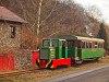 A Nagybörzsönyi Erdei Vasút C50 3756 pályaszámú kismozdonya a Királyréti Erdei Vasúton a paphegyi felújítása alkalmából rendezett fotósvonaton Kismaros és Morgó között
