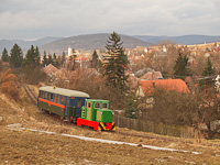 The C50 3756 of the Nagybörzsöny Forest Railway seen between Szokolya-Mányoki and Hártókút on the photo charter after it was refurbished at the Királyrét Forest Railway's workshop at Paphegy