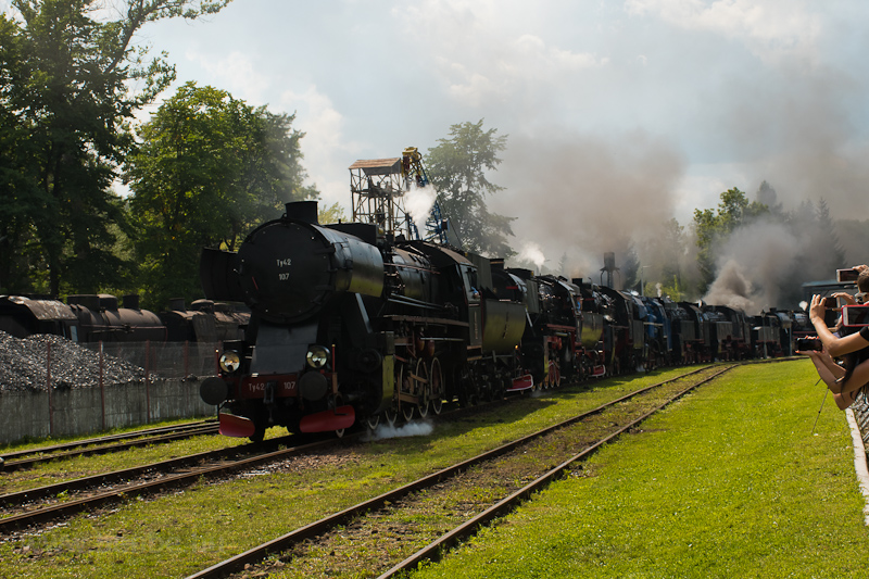Steam locomotive parade at  picture