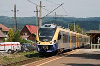 A Koleje Małopolskie EN78 004 Rabka-Zdrój megállóhelyen
