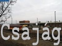 Veszpr�m - Hajm�sk�r - Leps�ny k�z�tt k�zlekedő Bz mot motorkocsi Csaj�g �llom�son