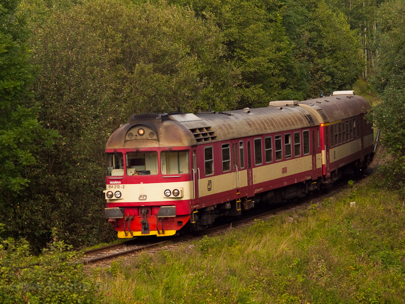 The ČD 854 210-2 seen  photo