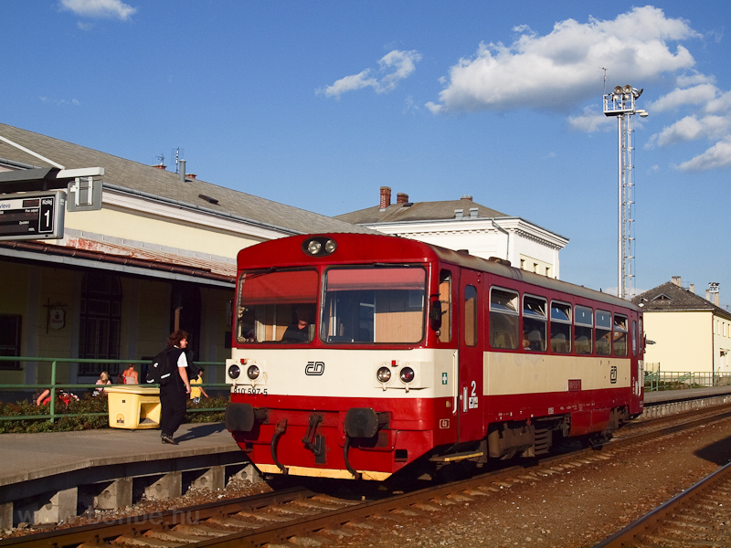 The ČD 810 597-5 seen  photo