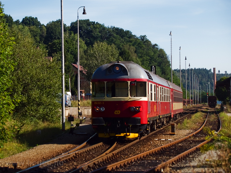 The ČD 854 021-3 seen  photo