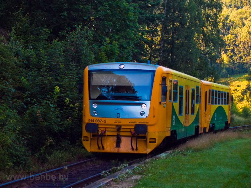 The ČD 914 087-2 seen  photo