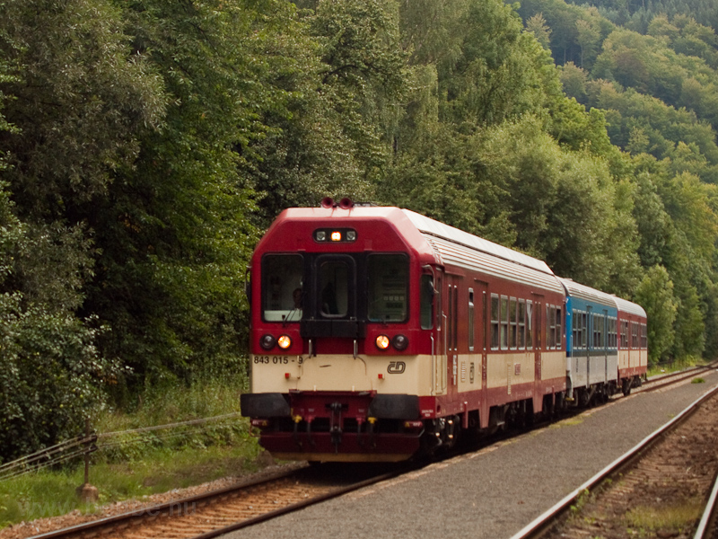 The ČD 843 015-9 seen  photo