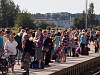 A lot of people were waiting for the locomotive-hauled train to Prague at Turnov