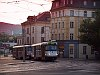 Coupled type Tatra T3 trams at Liberec