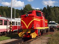 The diesel-hydraulic rack railway locomotive of the Zubačka between Tanvald and Harrachov