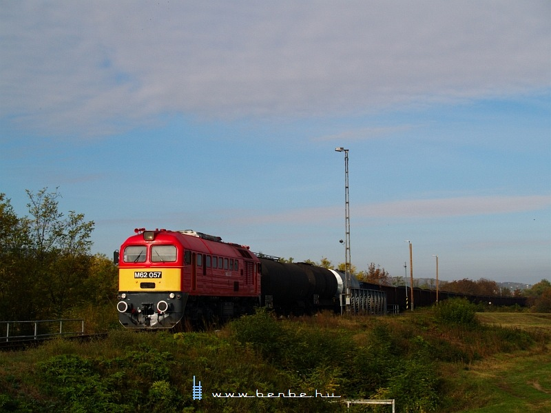 The M62 057 arriving at MAgyarbóly from Villány photo