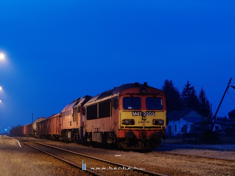 The M41 2203 during blue hour at Máza-Szászvár photo