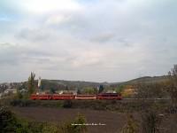 M41 2203 Mőcsény falu látképe előtt