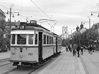 Historic tramcars 1884-1984 at the Kossuth tér
