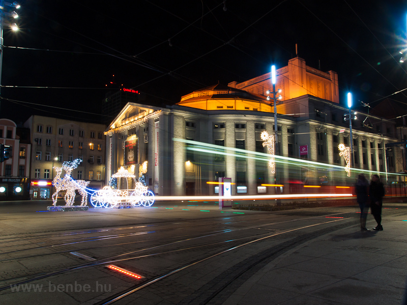 Light streaks made by trams picture