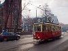 A bytomi 38-as villamos Konstal N sorozatú, 954 pályaszámú kocsija a Piekarskán, Bytom Kościół św. Trójcy végállomásnál