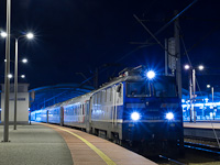 The PKP EP09 015 seen at Katowice hauling the famous Moscow-Nice train of RŽD