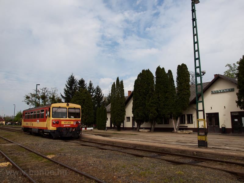 A MÁV-START 117 203 Nagyatá fotó