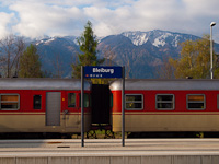 The SZ 813 020 seen at Bleiburg station in Austria