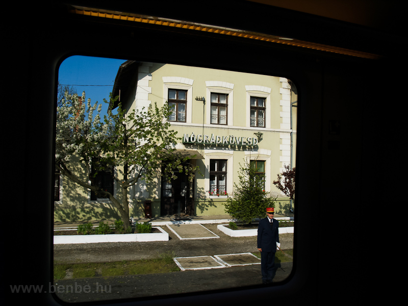 Nógrádkövesd seen from inside the Desiro railcar photo