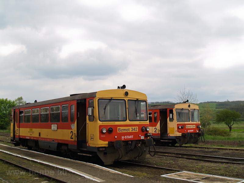 A Bzmot 342 és 344 Ipolytarnócon fotó