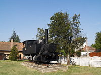 An old 377 steamer on exhibit at Balassagyarmat