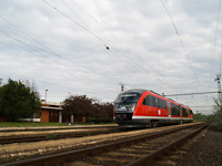 The M�V 6342 014-5 Desiro with a charter train at Galgam�csa station