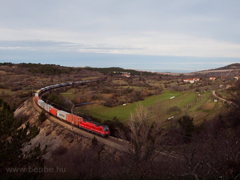 An ŠZ 541 is seen hauling a freight train between Črnotiče and Prešnica photo