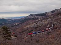 A freight with a 541 between Črnotiče and Hrastovlje
